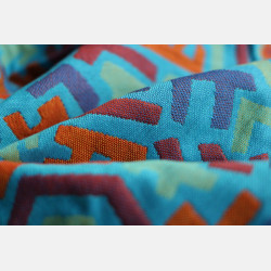 Yaro Harlequin Ultra Blue Orange Wool Ring Sling