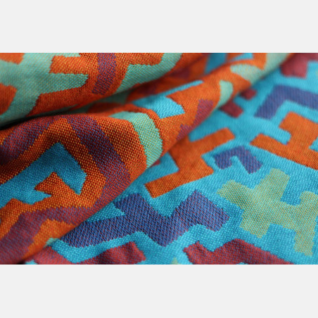 Yaro Harlequin Ultra Blue Orange Wool Ring Sling