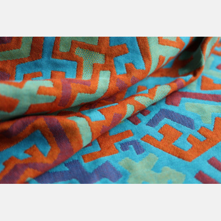 Yaro Harlequin Ultra Blue Orange Wool