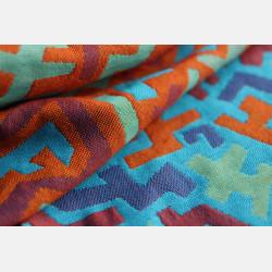 Yaro Harlequin Ultra Blue Orange Wool