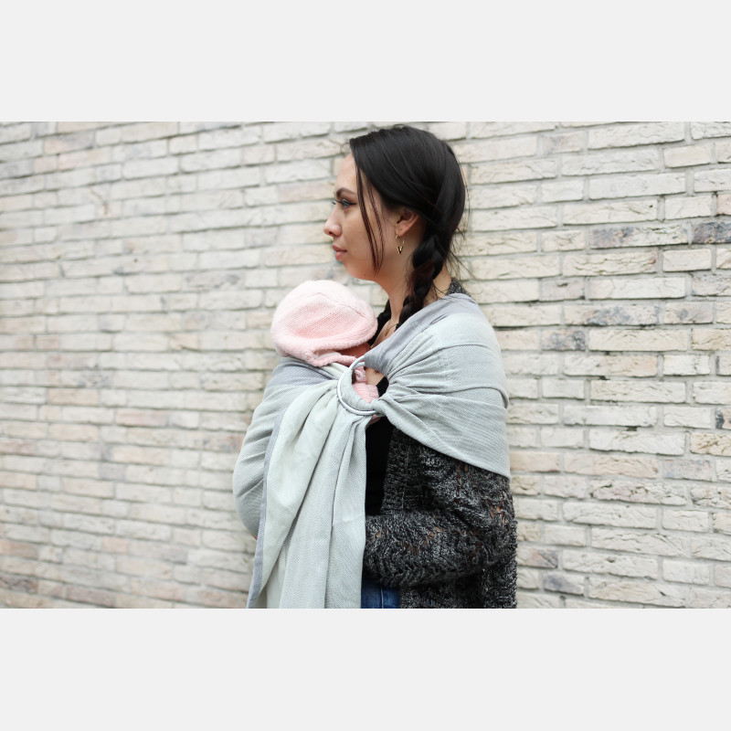 Yaro Newborn Grey Ring Sling