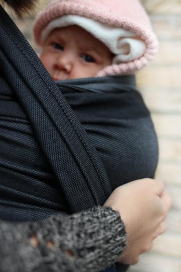 Yaro Newborn Grey Black Ring Sling