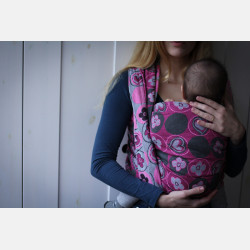 Yaro Bloomsbury Ultra Pink Grey Ring Sling