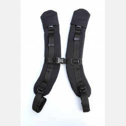 Yaro Flex Full Buckle Shoulder Straps Black