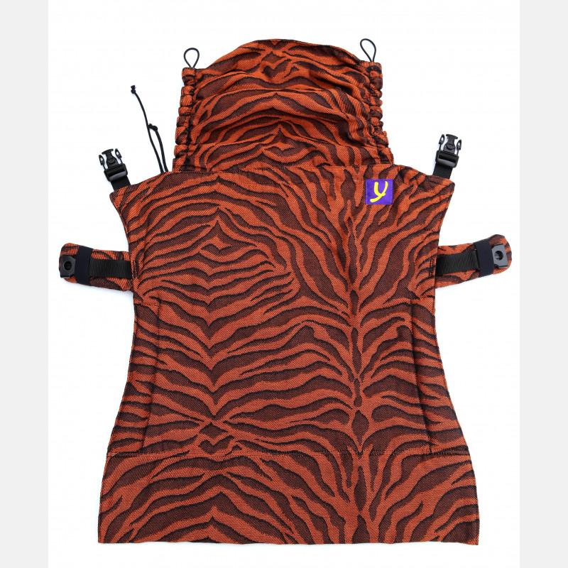 Yaro Flex Back Panel Tiger Black Orange