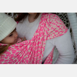 Yaro Pussycat Duo Fluo Pink Wool Blend Ring Sling