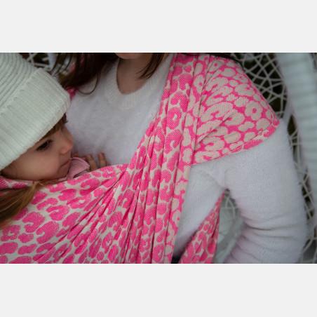 Yaro Pussycat Duo Fluo Pink Wool Blend Ring Sling