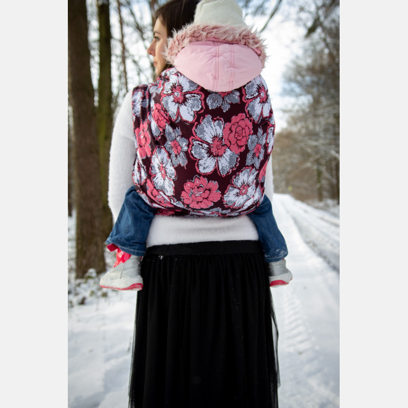 Yaro Fiori Ultra Red Black White Ring Sling
