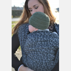 Yaro Pussycat Black Grey Ring Sling