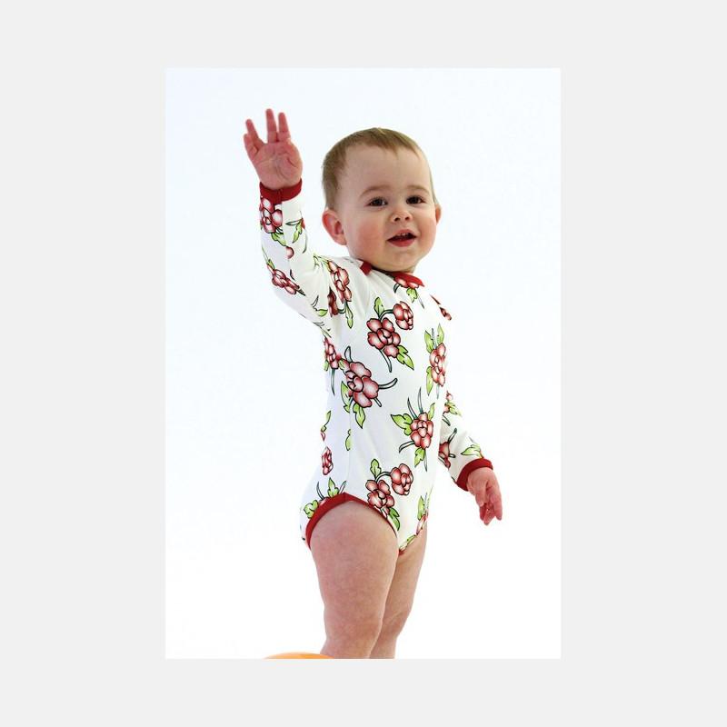 Baby Body Long Sleeve Flowers