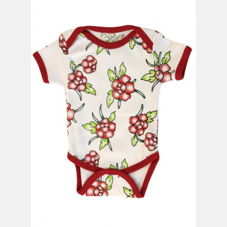 Baby Body Short Sleeve Flowers