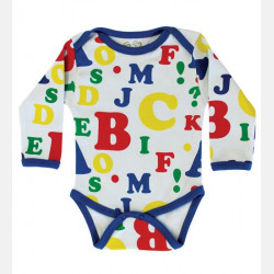 Baby Body Long Sleeve Letters