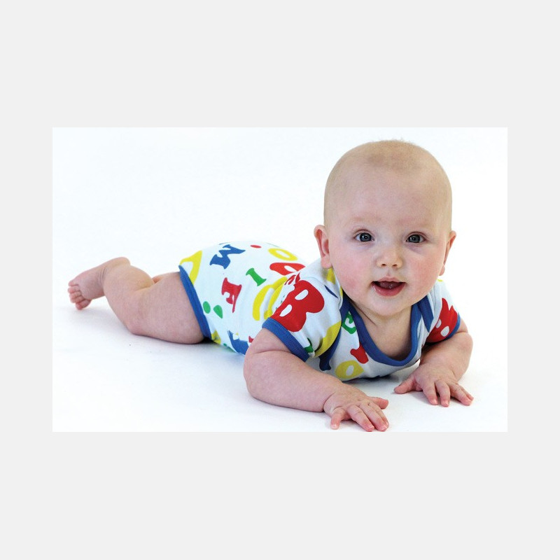 Baby Body Short Sleeve Letters