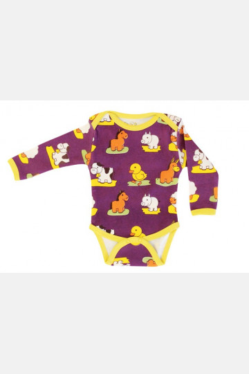 Baby Body Long Sleeve Animals
