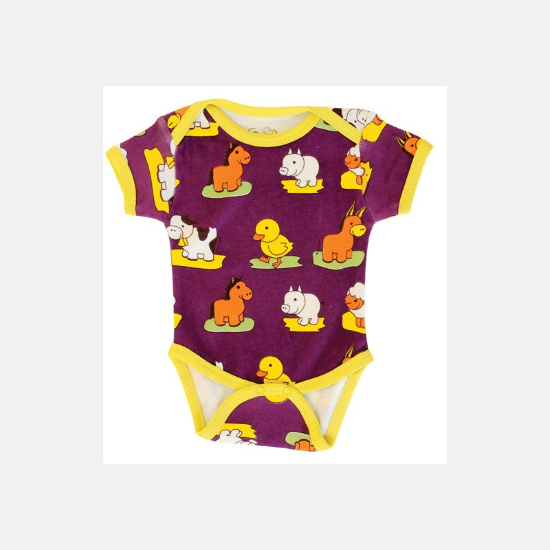 Baby Body Short Sleeve Animals