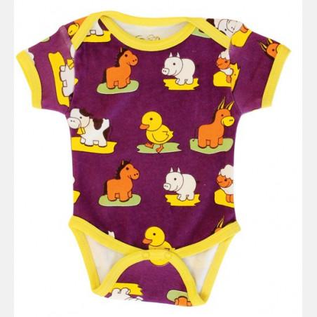 Baby Body Short Sleeve Animals
