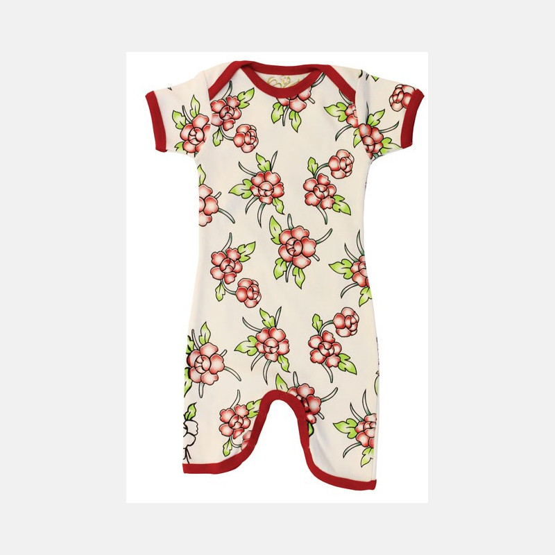 Jumpsuit Short Sleeve Flowers