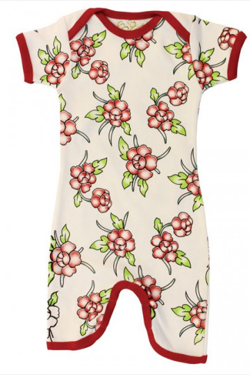 Jumpsuit Short Sleeve Flower