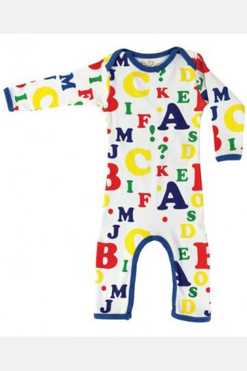 Jumpsuit Long Sleeve Letters