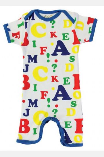 Jumpsuit Short Sleeve Letters