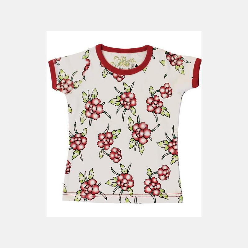 Shirt Short Sleeve Flowers