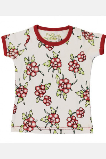 Shirt Short Sleeve Flowers