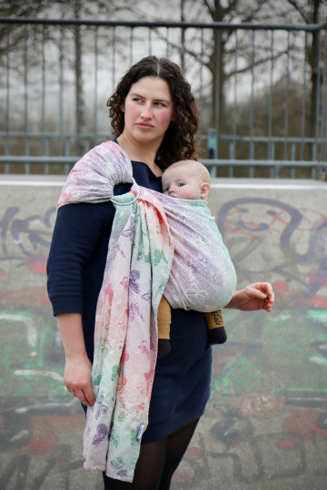 Yaro Woodland Duo Macarons Rainbow Tencel Ring Sling
