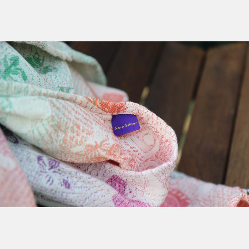 Yaro Woodland Duo Macarons Rainbow Tencel Ring Sling