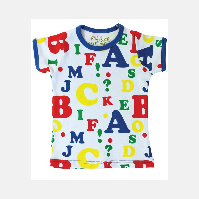 Shirt Short Sleeve Letters