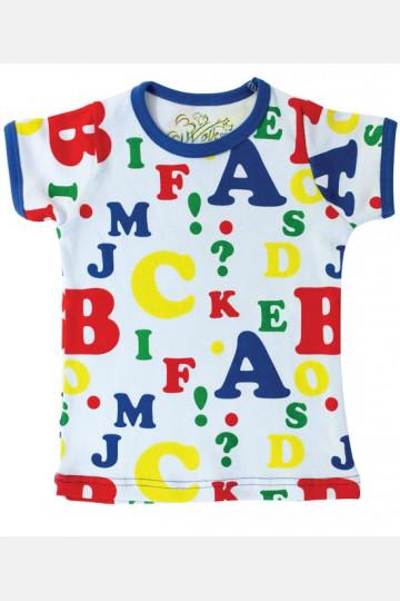 Shirt Short Sleeve Letters