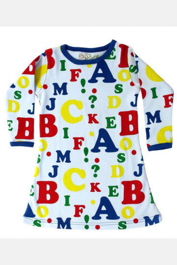 Dress Long Sleeve Letters