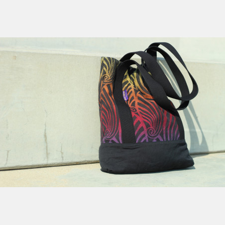 Yaro Tote Bag - Dandy Black Autumn Rainbow