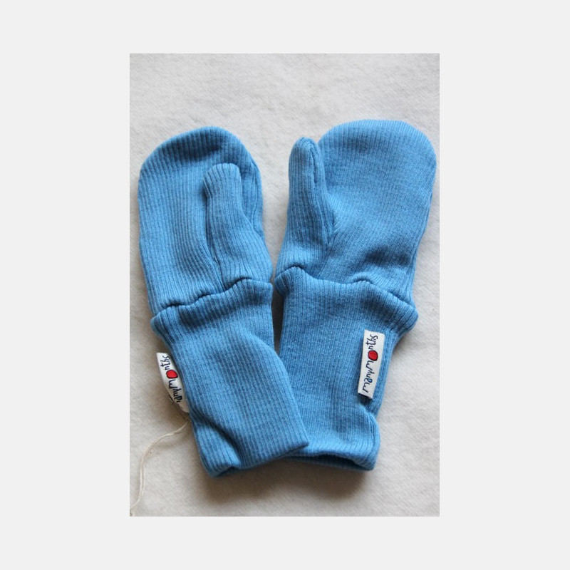 ManyMonths Wool Long Cuff Mittens Heaven Blue