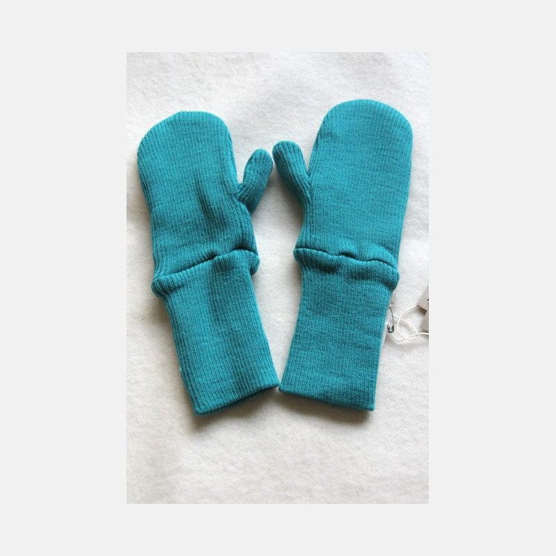 ManyMonths Wool Long Cuff Mittens Royal Turquoise