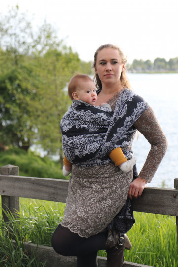 Yaro Jazz Duo Black White Linen Kapok Ring Sling