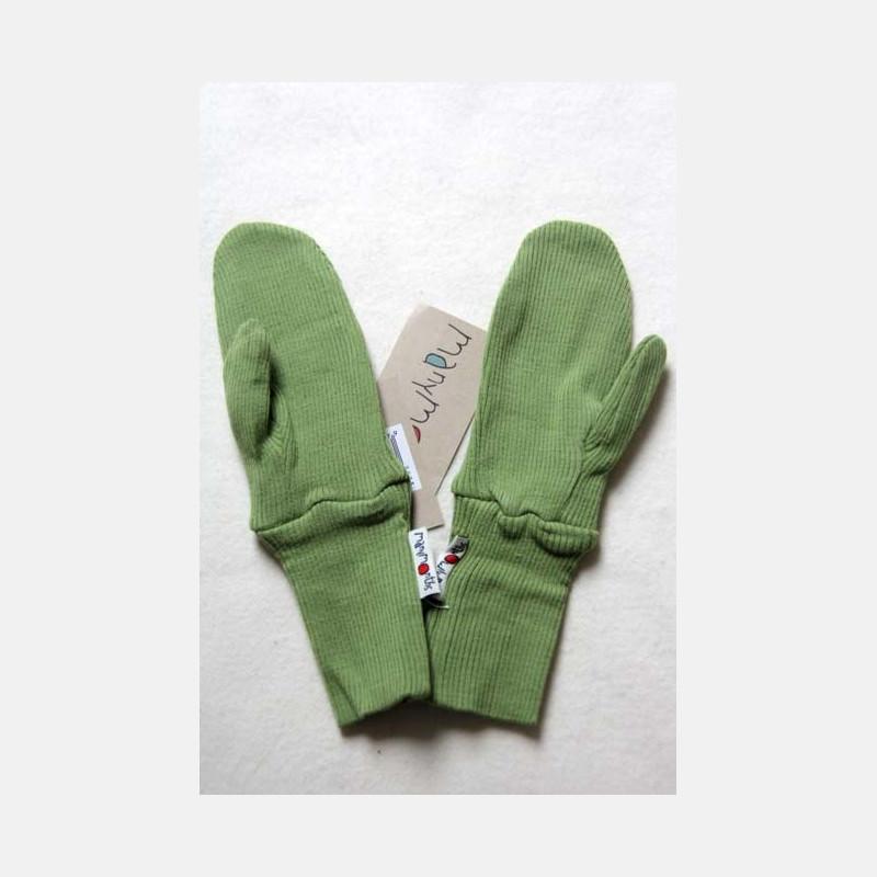 ManyMonths Wool Long Cuff Mittens Spring Green