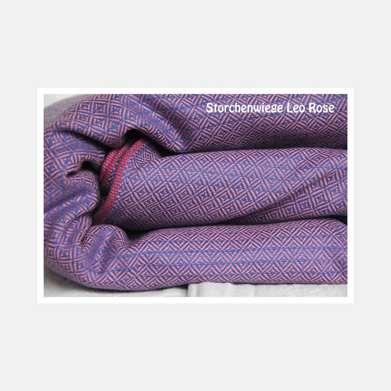 Storchenwiege Ring Sling Leo Rose