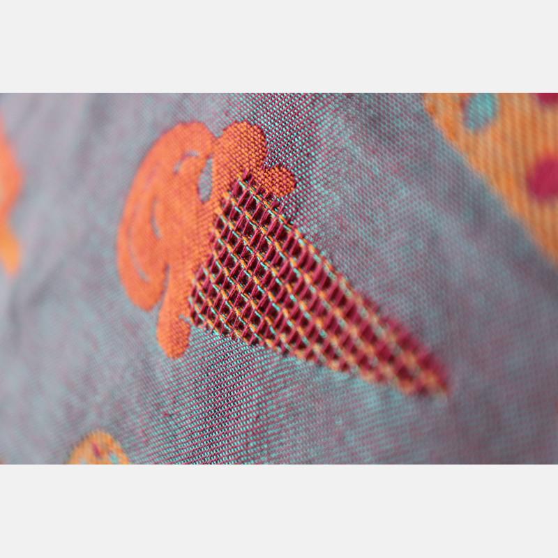 Yaro Cool Duo Fuchsia Orange Turkis Tencel Kapok