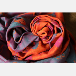 Yaro Cool Duo Fuchsia Orange Turkis Tencel Kapok