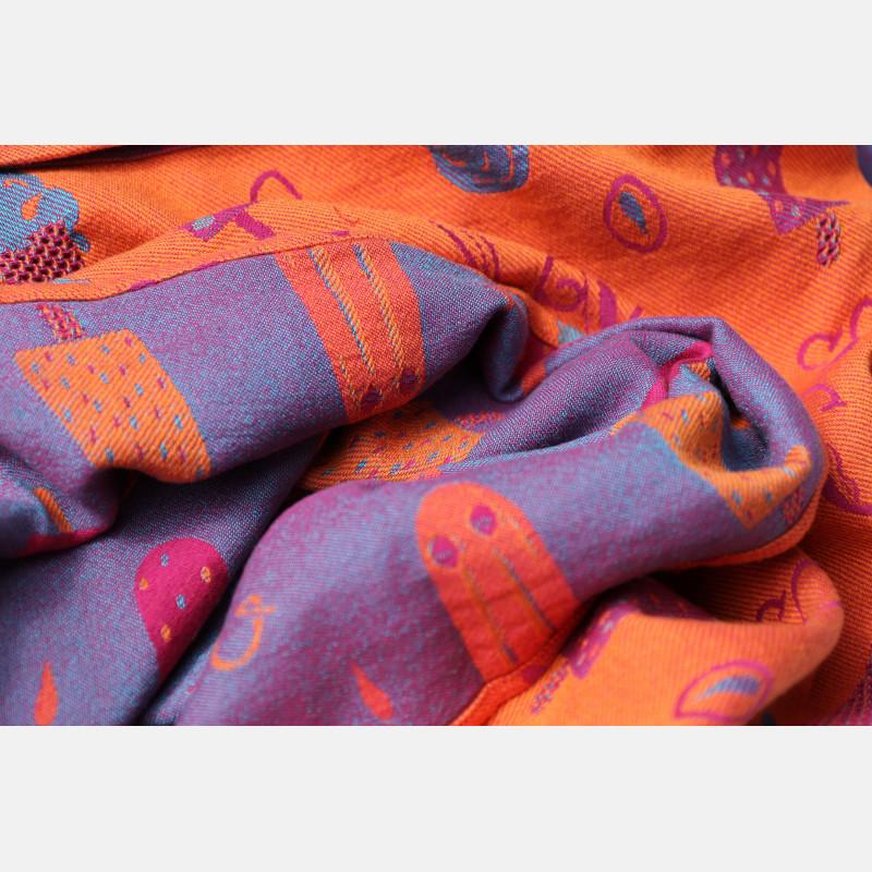 Yaro Cool Duo Fuchsia Orange Turkis Tencel Kapok Ring Sling