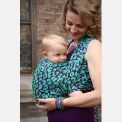 Yaro Pussycat Ultra Purple Green All Tencel Ring Sling