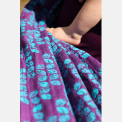 Yaro Petals Ultra Purple Blue Bamboo Tencel