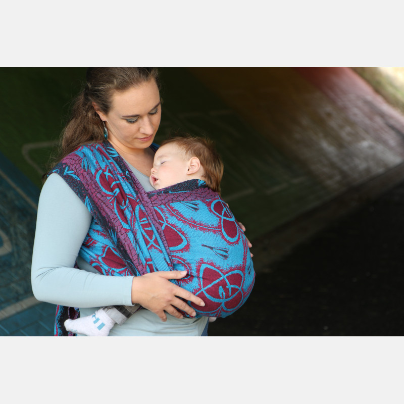 Yaro Waltz Duo Black Blue Red Black Ring Sling
