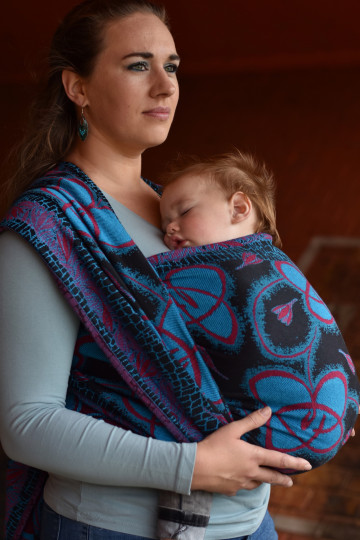 Yaro Waltz Duo Black Blue Red Ring Sling