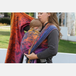 Yaro Chloe Duo Havana Grad Orange Navy Confetti Ring Sling