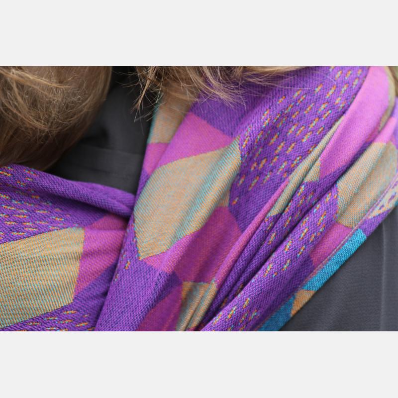 Yaro Prismic Ultra Purple Turkis Bronz Linen Modal Ring Sling