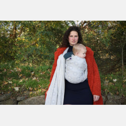 Yaro Shining Duo Silver Silk Cashmere Seacell Ring Sling
