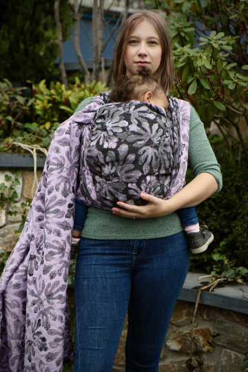 Yaro Oak Ultra Lilac Grey Wool Seacell Ring Sling