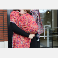 Yaro Oak Ultra Purple Straw Red Wool Ring Sling