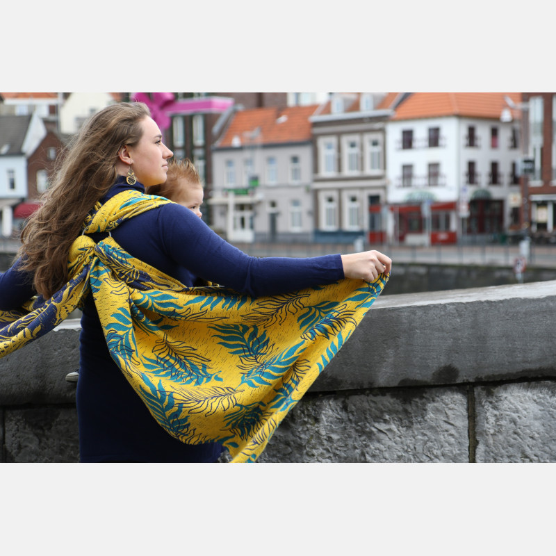 YaroOasis Puffy Yellow Turkis Seacell Ring Sling